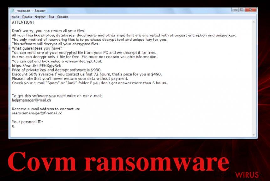Ransomware Covm