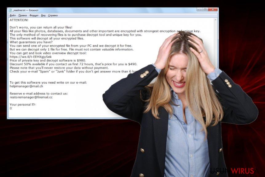 Wirus ransomware Covm