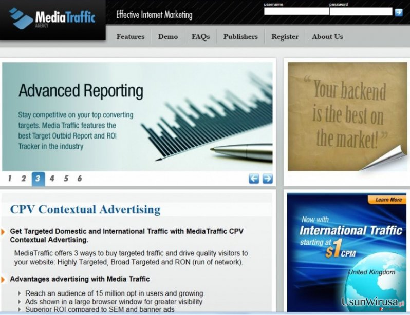 cpvfeed.mediatraffic.com redirect snapshot
