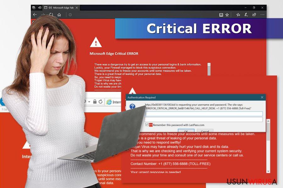 """Prezentacja oszustwa """"Critical ERROR"""""""