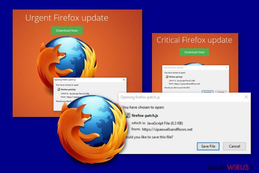 Wiadomość Krytyczna Aktualizacja Firefox