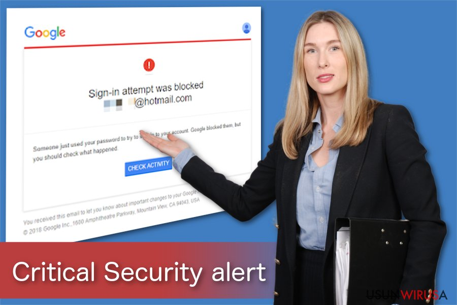 Ilustracja Krytycznego alertu bezpieczeństwa