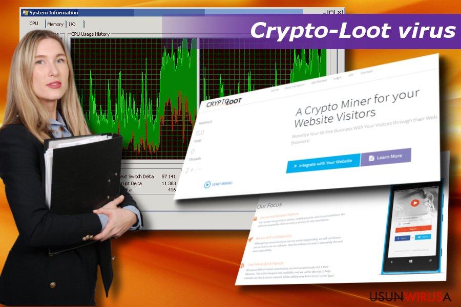 Wirus Crypto-Loot może spowodować awarie systemu, spowolnienia i crash'e.