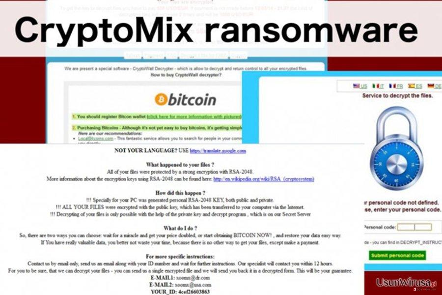 Przedstawienie wirusa ransomware CryptoMix