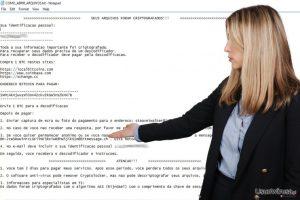 Wirus ransomware Cryptolocker Portuguese