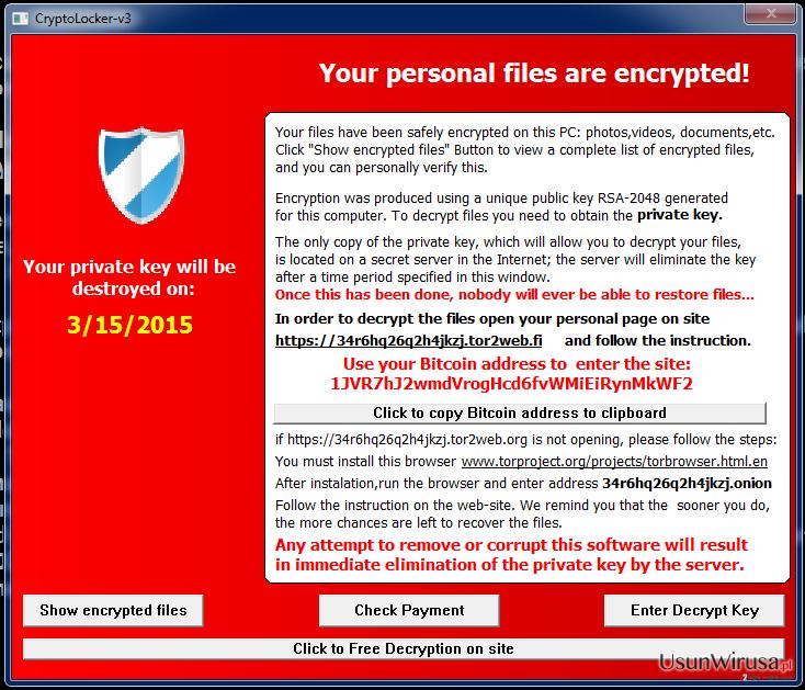 Wirus Cryptolocker-v3 snapshot