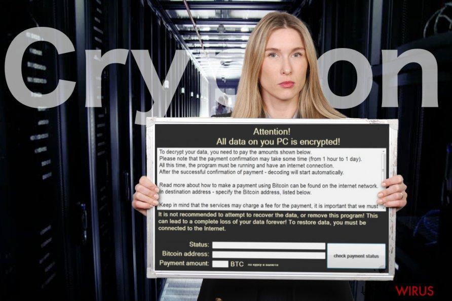 Obraz wirusa ransomware Crypton