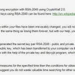 Wirus CryptoWall 2.0 snapshot