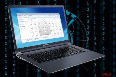 Ilustracja przedstawiające ransomware Decrypthelp@qq.com