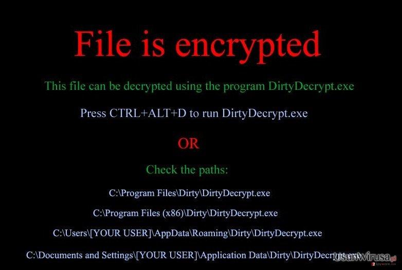 DirtyDecrypt snapshot