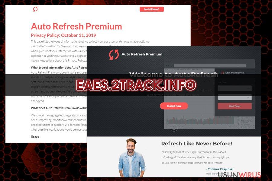 Przekierowania Eaes.2track.info