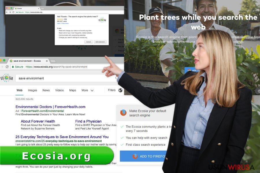 Obraz wirusa Ecosia.org
