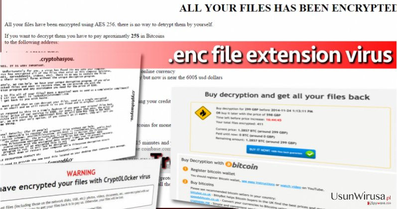 .enc file extension viruses are highly dangerous and can leave you without your files