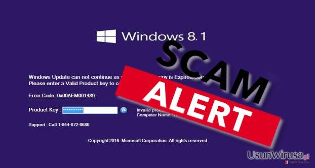 Error code: 0x00AEM001489 malware