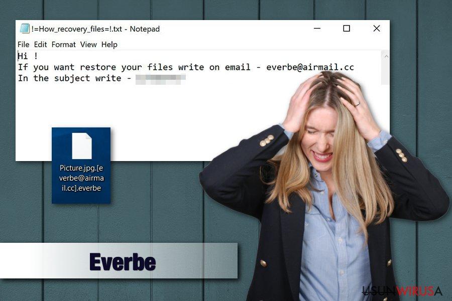Obrazek wirusa ransomware Everbe