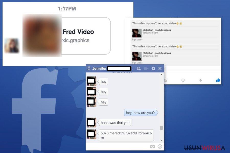 Przykład wirusa wiadomości Facebook