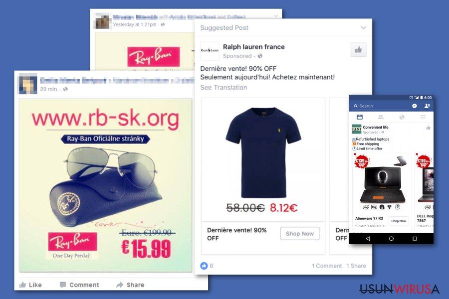 fałszywe reklamy Facebook