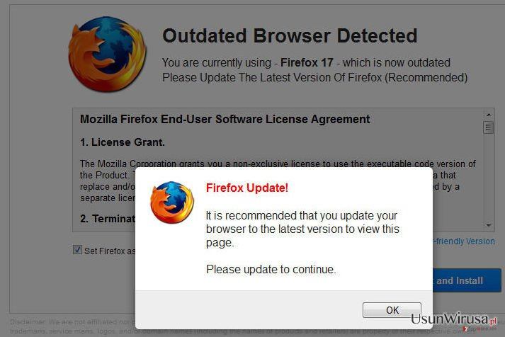 WARNING: Your Current Browser Is Outdated! snapshot