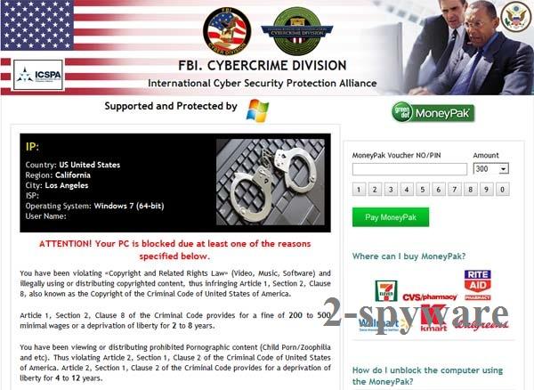 FBI Cybercrime Division virus snapshot