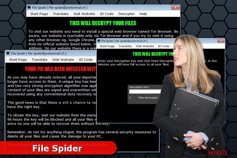Wirus ransomware File Spider