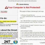 """Wyskakująca wiadomość """"Firewall Warning"""" snapshot snapshot"""