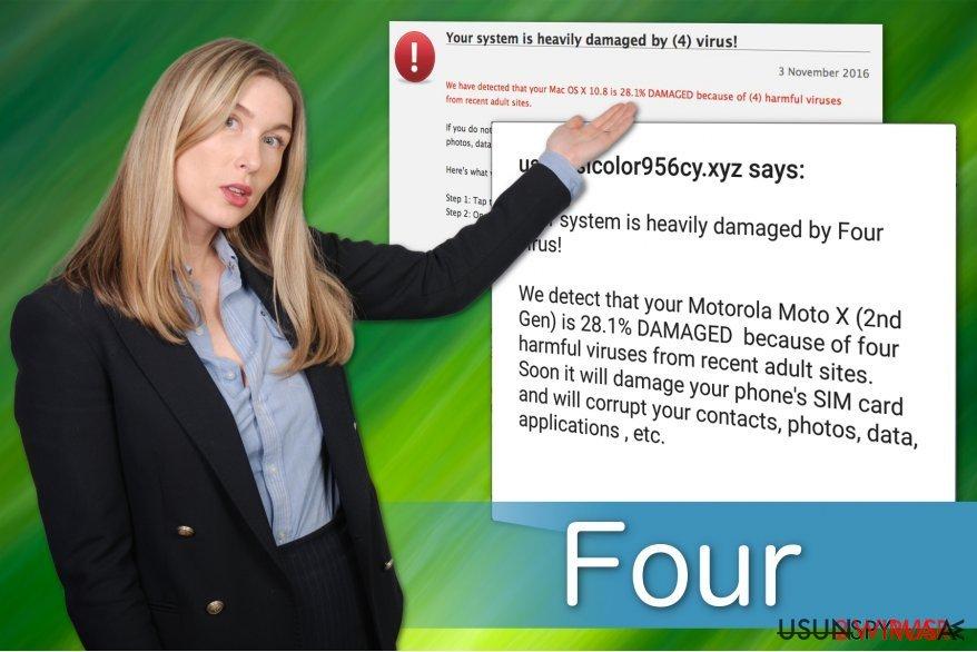 Wirus Four ma kilka wariantów