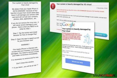 Oszustwo wirusa Four