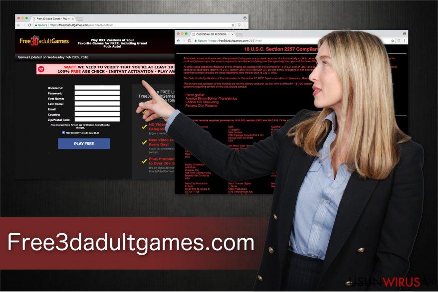 Ilustracja platformy gier dla dorosłych Free3dadultgames.com