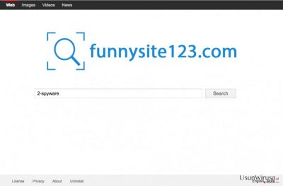 Zrzut ekranu strony FunnySite123.com
