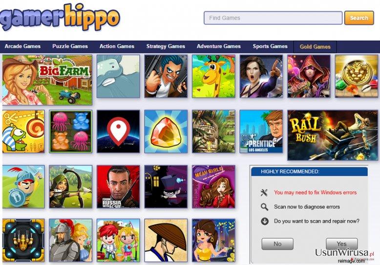 Reklamy GamerHippo snapshot