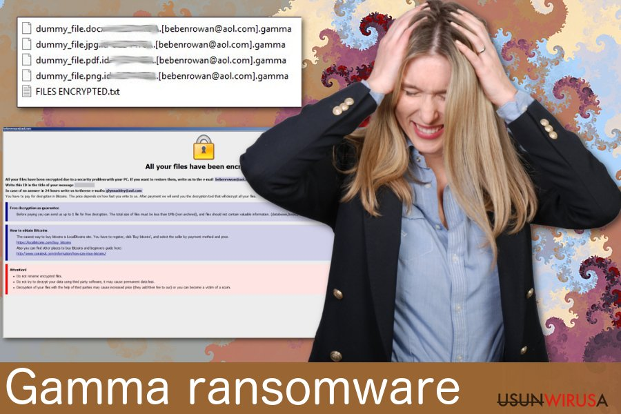 Wirus ransomware Gamma