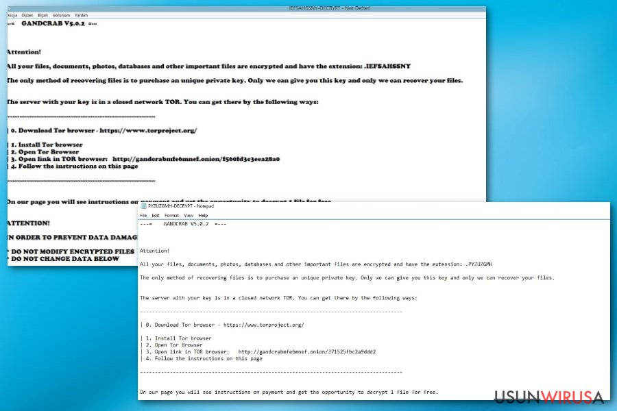 Wirus ransomware GandCrab 5.0.2
