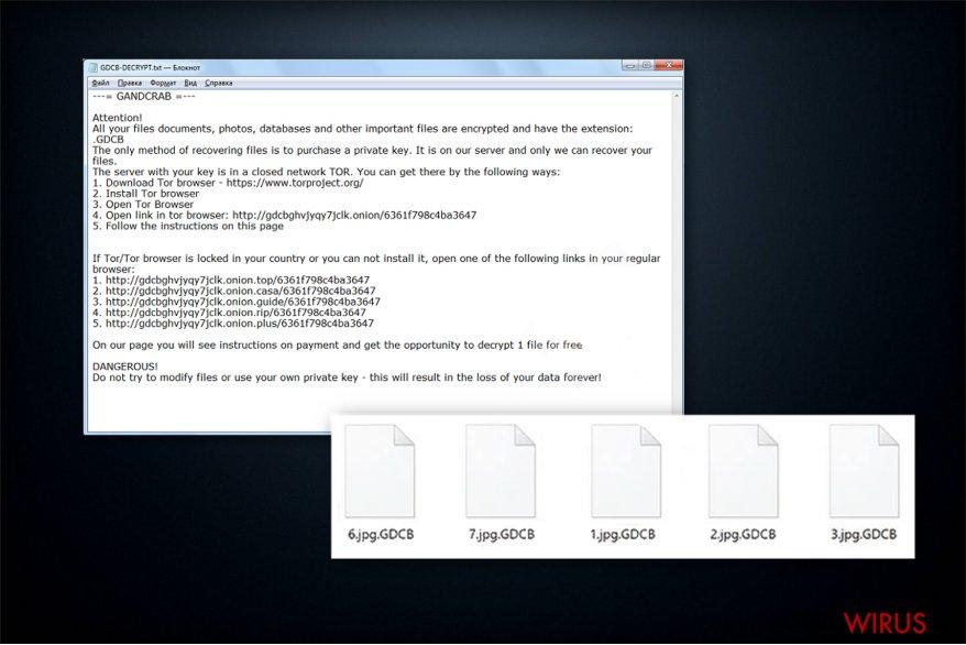 Żądanie okupu ransomware'a GandCrab