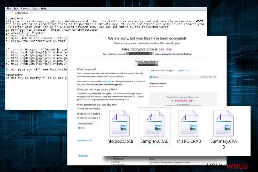 Printscreen of GandCrab2 ransom note