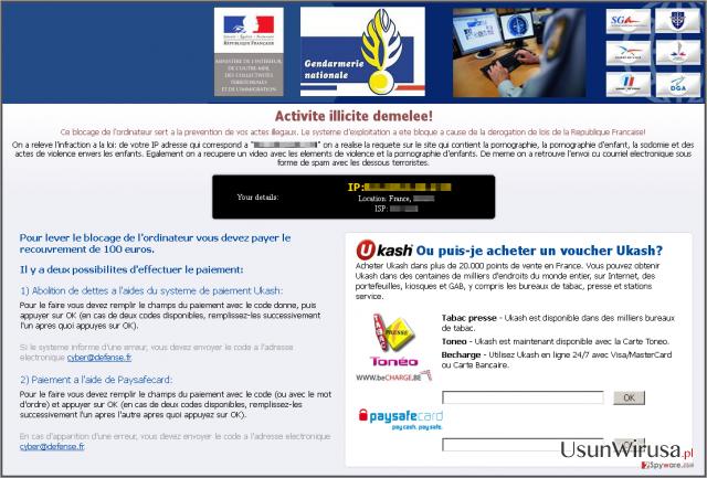 Virus Gendarmerie snapshot