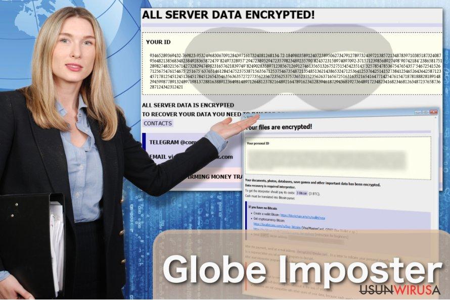 Przedstawienie wirusa Globe Imposter