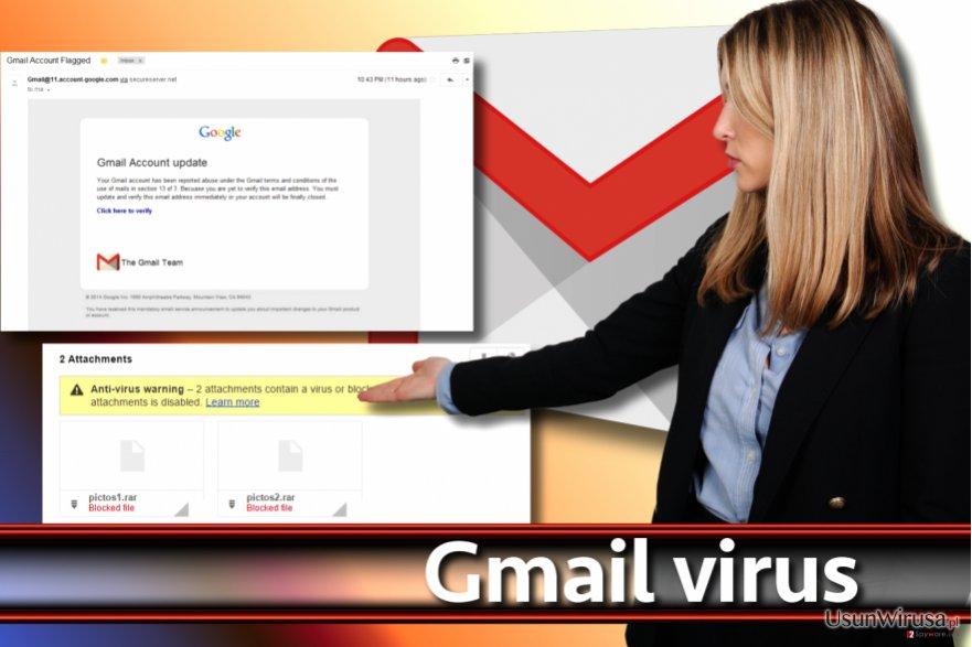 Przedstawienie wirusa Gmail