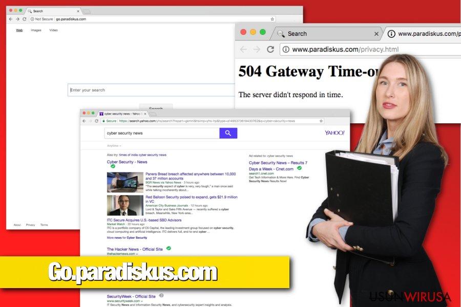 Porywacz przeglądarki Go.paradiskus.com