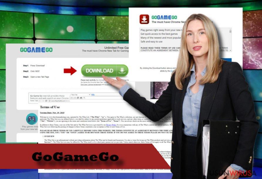 Zrzut ekranu wirusa GoGameGo