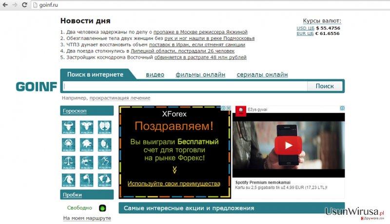 Przekierowania Goinf.ru snapshot