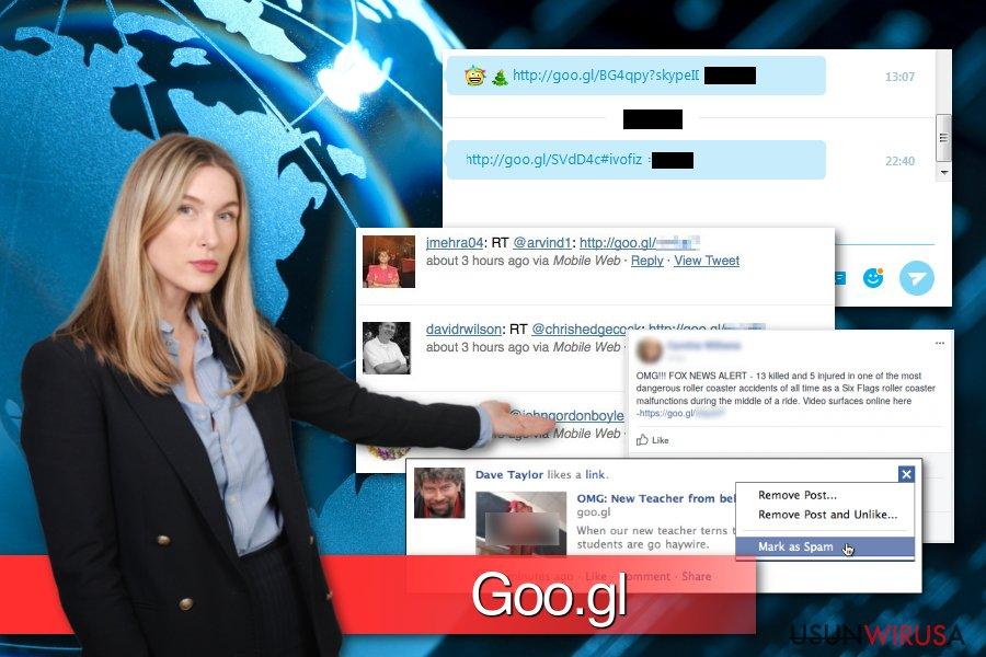 Przykłady malware Goo.gl