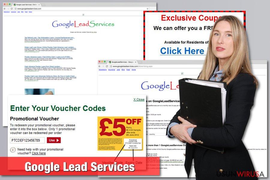 Przedstawienie wirusa Google Lead Services