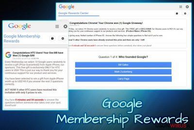Wirus Google Membership Reward
