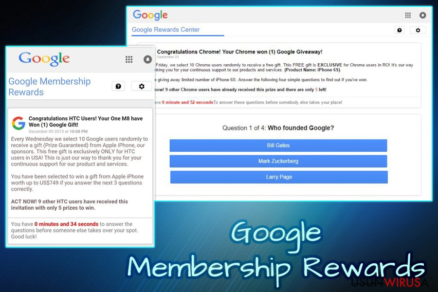 Wirus Google Membership Reward