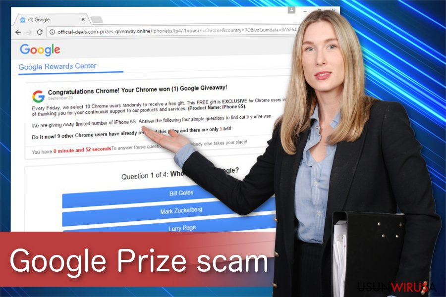Obraz oszustwa Google Prize