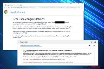 Ilustracja oszustwa Google Prize