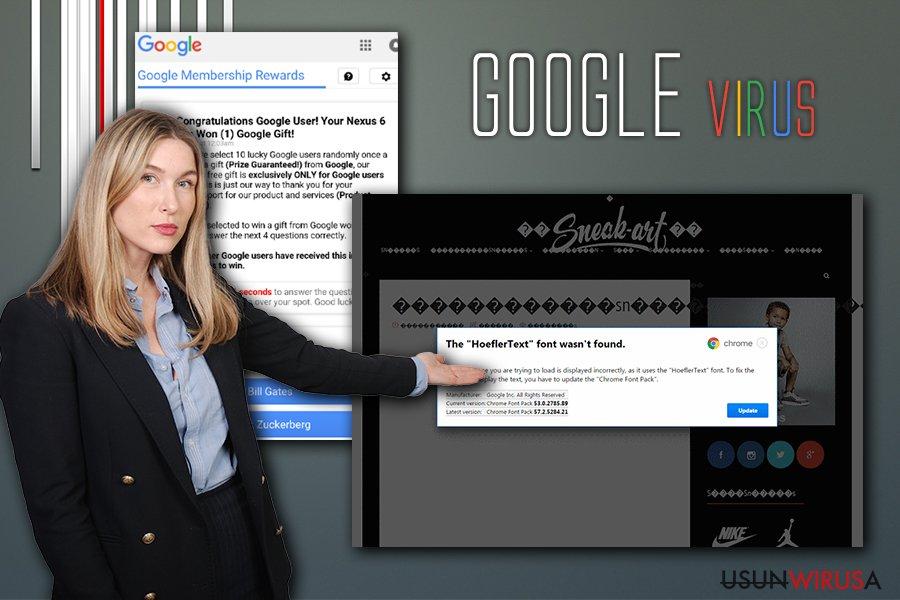 Infekcja wirusowa Google