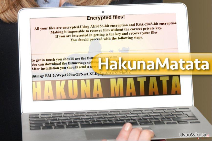 Wirus ransomware HakunaMatata snapshot