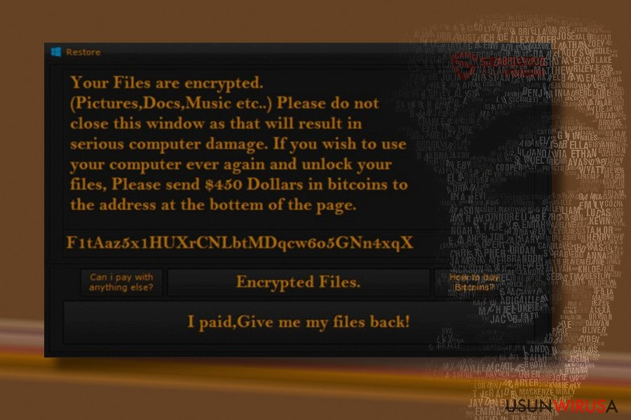 HiddenTear Restore ransomware version
